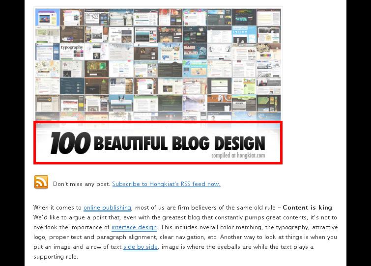 100개의 아름다운 블로그 디자인