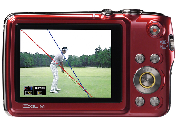 Casio Exlim EX-FS10 with Posture Analyzer for Golfers