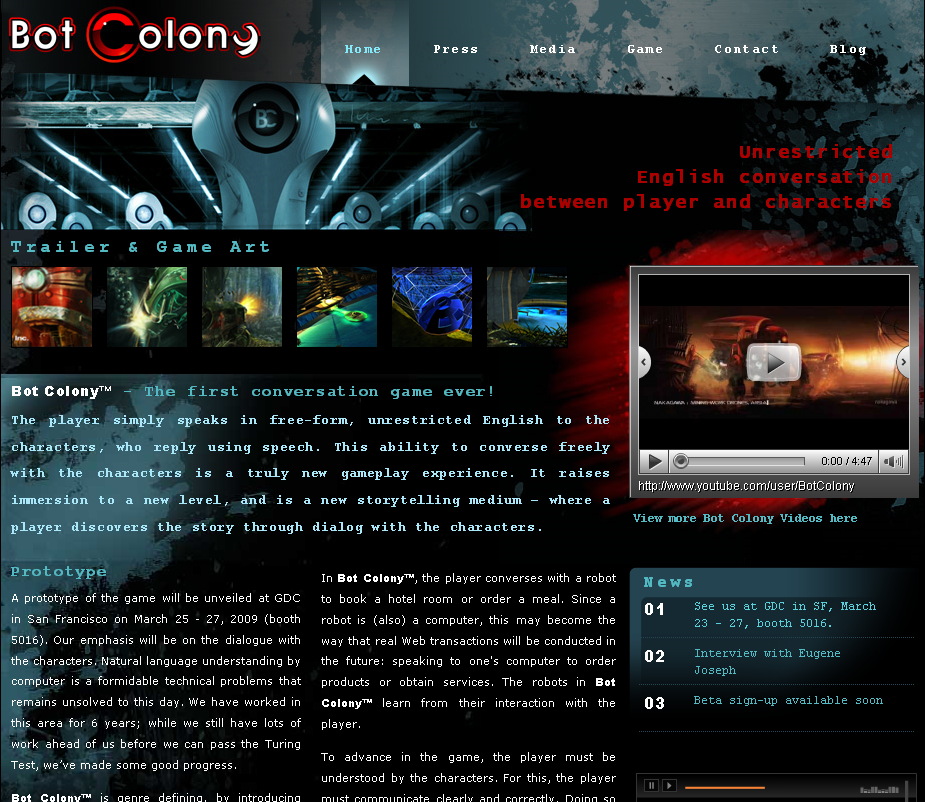 Bot Colony Website 090325