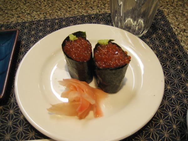 캐비어 초밥