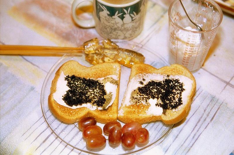 캐비어 토스트