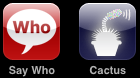 iPhone VUI Apps - Say Who & Cactus (as of 19 Oct 2008)