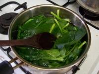 김밥용 시금치부침 만들기