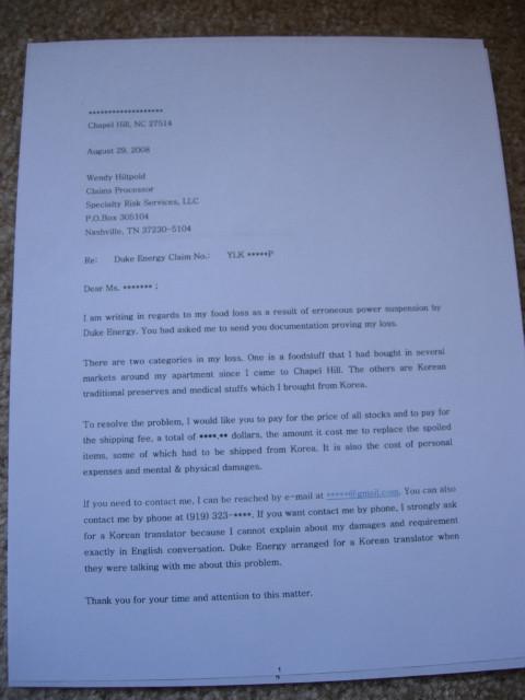 Claim Letter Sample Doc