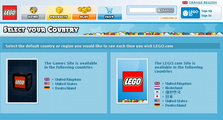 Lego Games - Availability