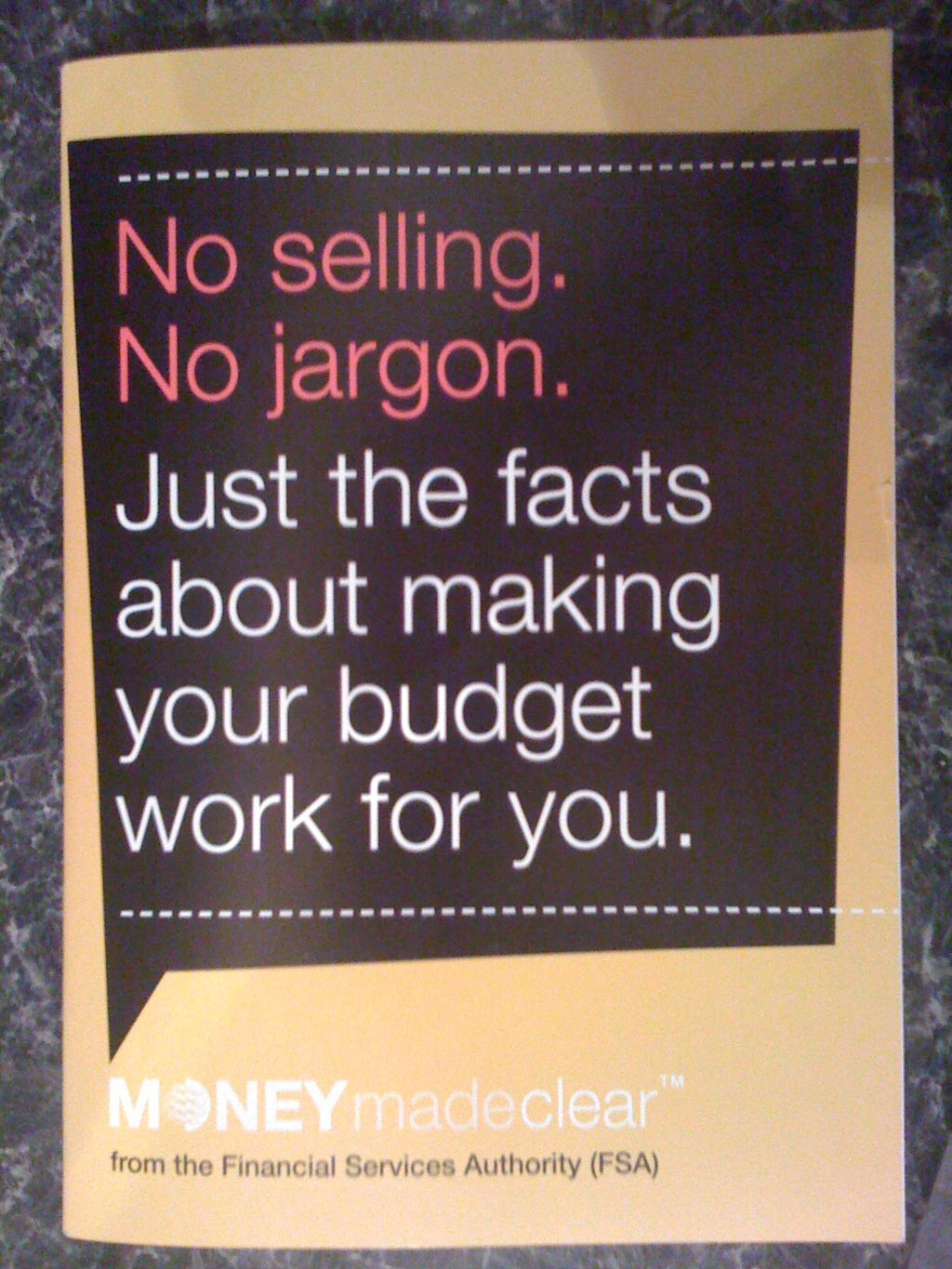 MONEYmadeclear leaflet