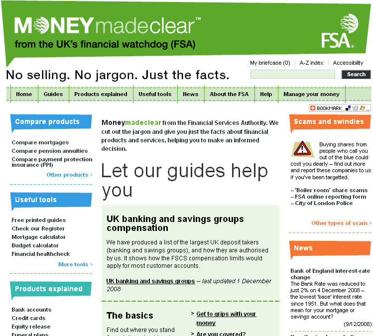 MONEYmadeclear website