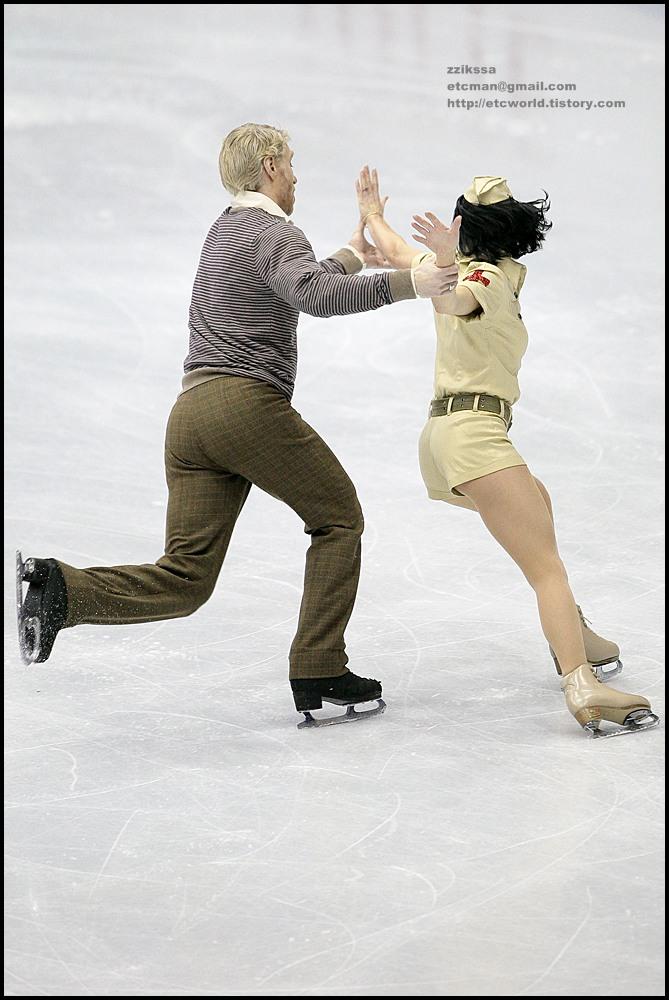 Isabelle DELOBEL & Olivier SCHOENFELDER at 'SBS ISU Grand Prix of Figure Skating Final Goyang Korea 2008/2009' Ice Dance Original Dance